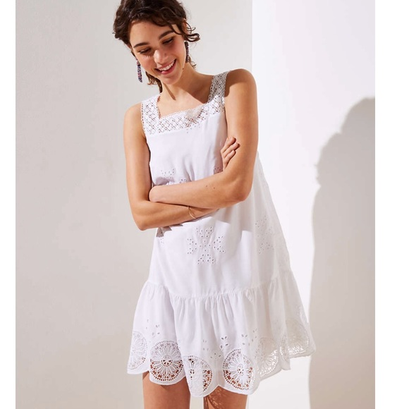 0601391e9e90d LOFT Dresses & Skirts - Loft Eyelet Garden Flippy Dress